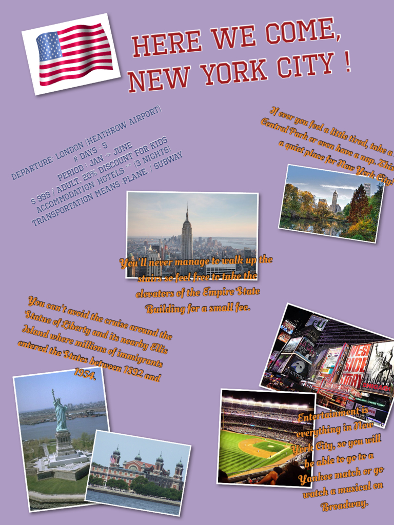 expose sur new york en anglais